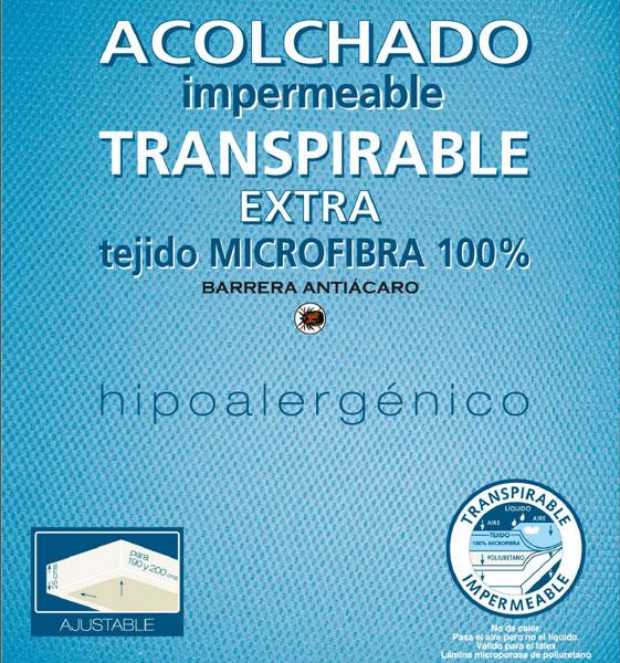 Acolchado impermeable transpirable extra microfibra 100%